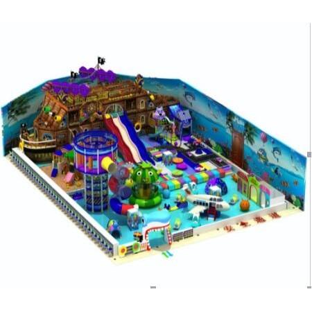 海盗船系列带滑梯组合室内游乐场设备价格