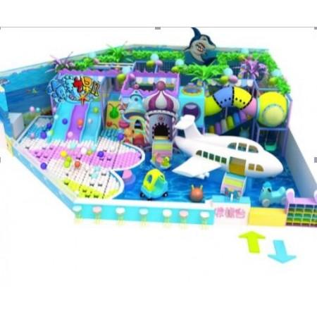 海洋主题室内球池滑梯儿童乐园