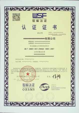 世标职业健康安全管理体系认证