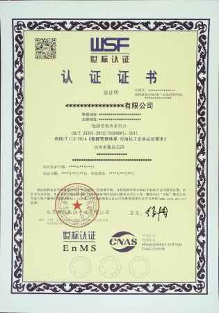 世标认证能源管理体系