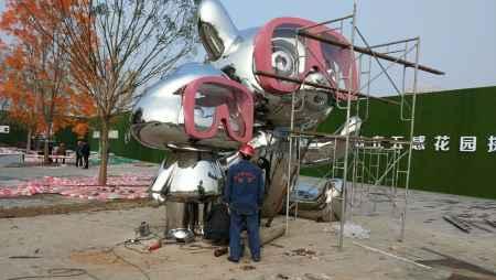 自贡大型不锈钢雕塑